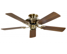 Fan MAYFAIR Brass/Dark Oak 5 blade incl LK Cord Malta, 		    							Ceiling Fans Malta, The Light Shop Malta Malta
